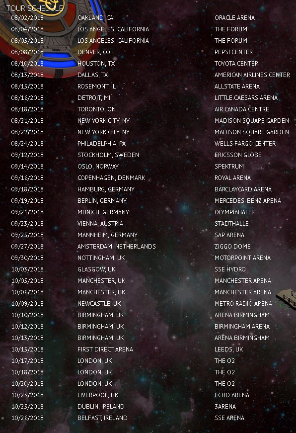 Alone in the Universe Tour 2018